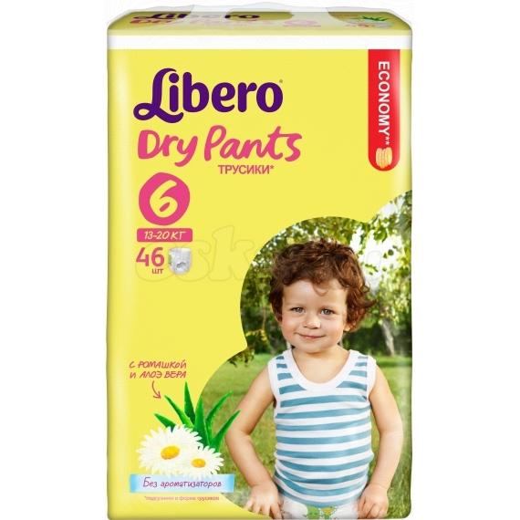 Трусики Libero Dry Pants мега экстра лардж 13-20кг, 46шт.