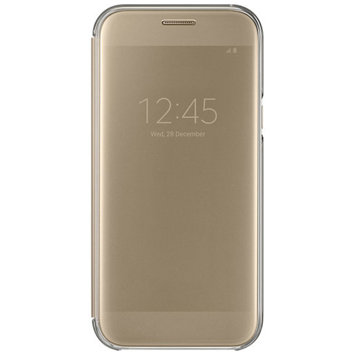 Чехол Samsung Clear View Cover для Galaxy A5 (2017) SM-A520F, золотистый