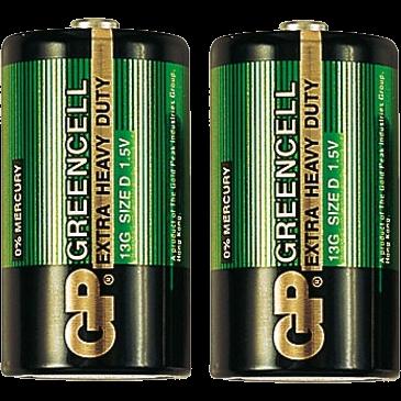 Батарейки GP 13G-OS2 тип D 2шт
