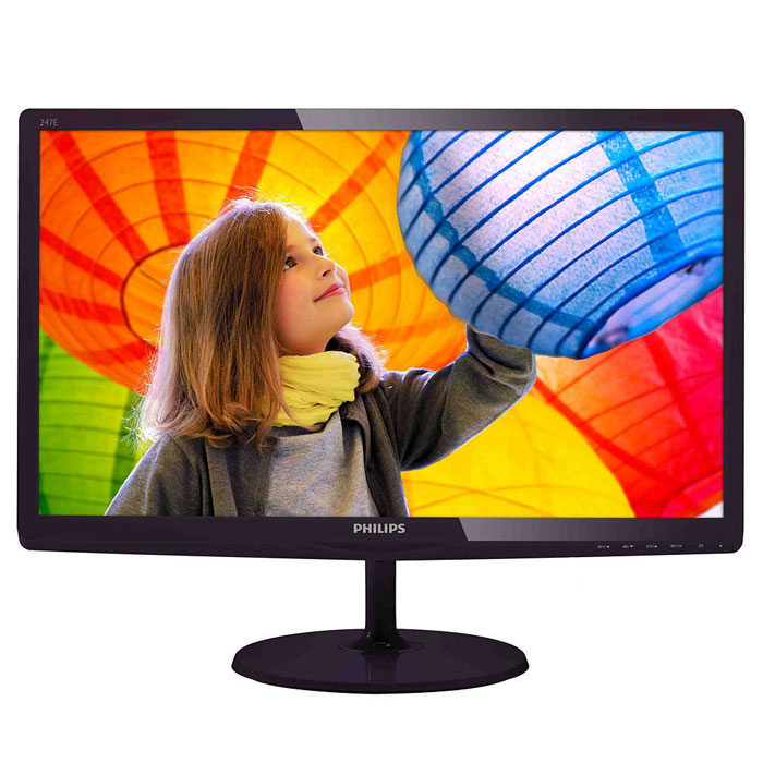 Монитор ЖК Philips 247E6QDAD 23.6″ IPS black VGA DVI HDMI MHL