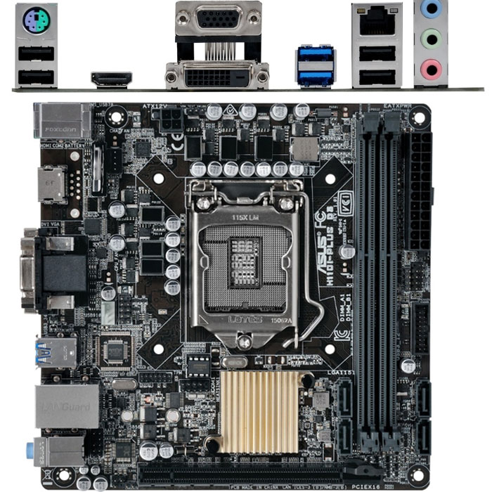 Материнская плата ASUS H110 LGA1151 DDR4 ( H110I-Plus ) Mini-ITX Ret