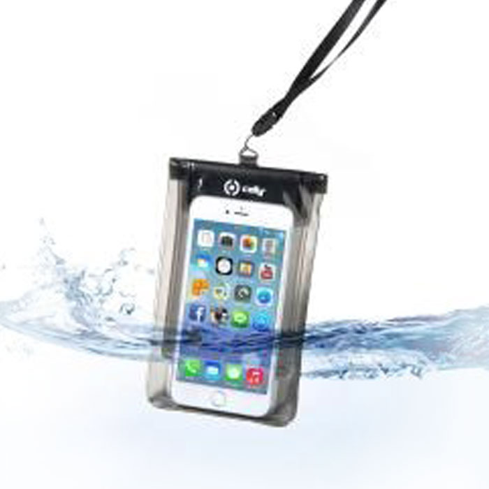 Водонепроницаемый чехол для смартфона до 5.7″, Celly (черный)