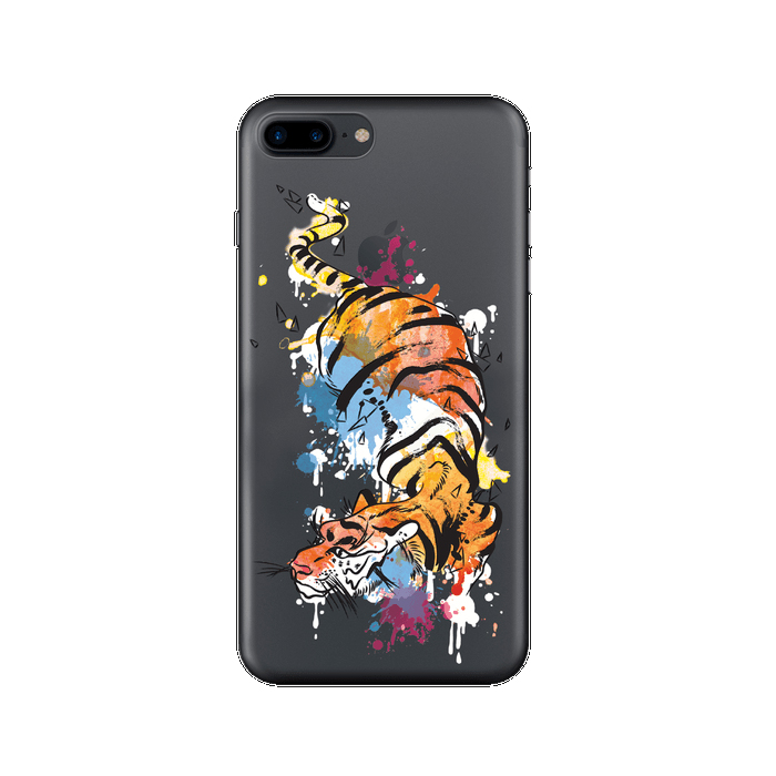 Чехол Deppa Art Case с пленкой для iPhone 7 Plus, Animal, Тигр