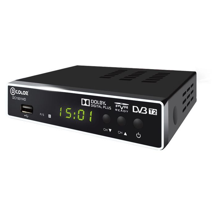 ТВ ресивер D-Color DC1501HD черный DVB-T2