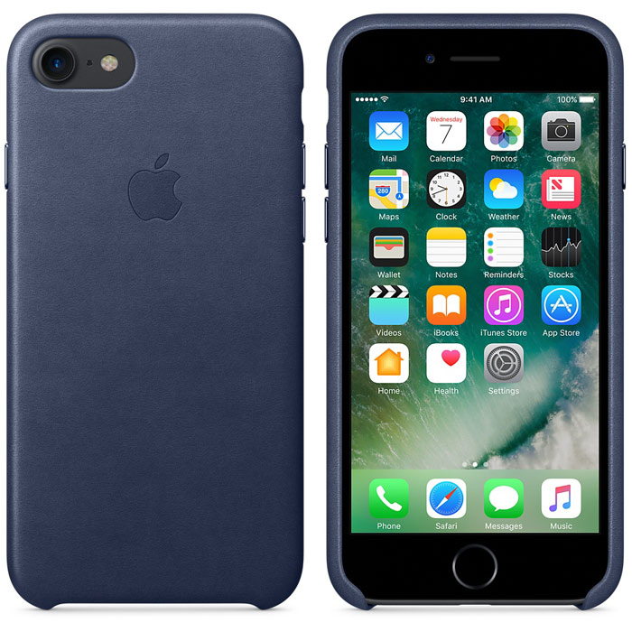 Чехол для Apple iPhone 7 Leather Case Midnight Blue MMY52ZM/A