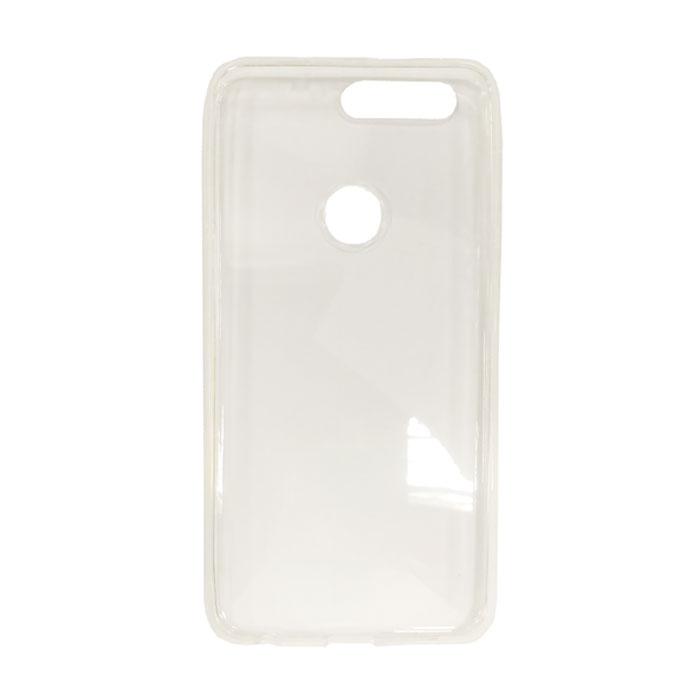 Чехол Gecko Силиконовая накладка для Huawei Honor 8, прозрачно-глянцевая, белая