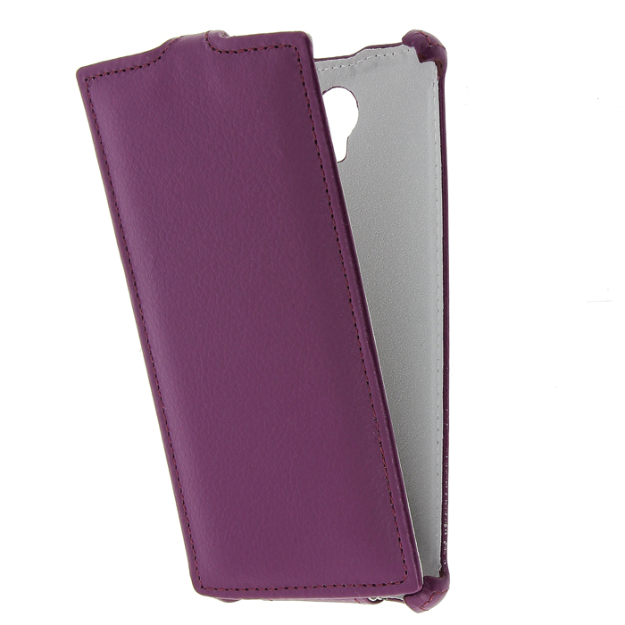 Чехол Gecko Flip для Philips Xenium S337, фиолетовый