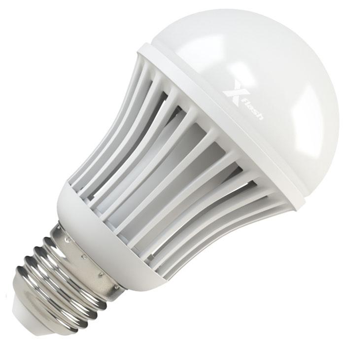 Светодиодная LED лампа X-flash Bulb E27 7W 220V желтый свет, матовая колбаатовая