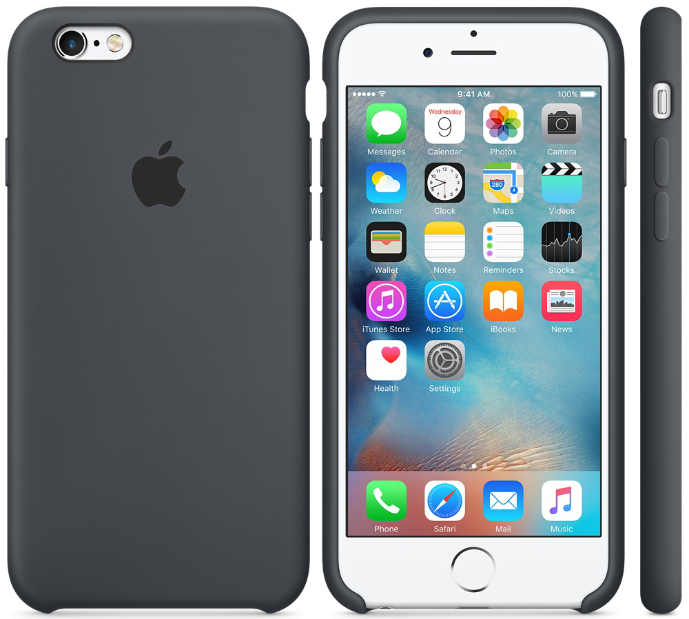 Чехол для Apple iPhone 6 Plus/ iPhone 6s Plus Silicone Case Charcoal Gray MKXJ2ZM/A