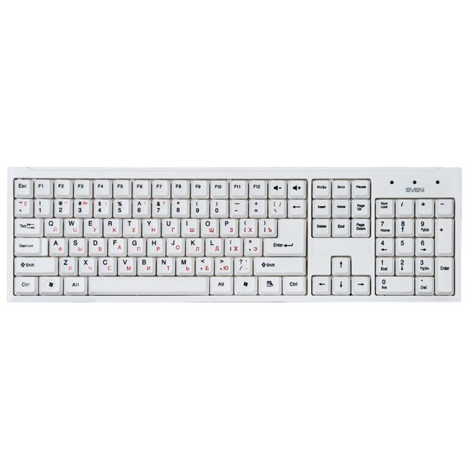 Клавиатура SVEN 303 Standard USB белая