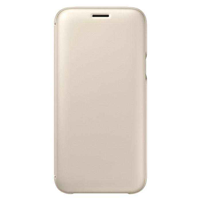 Чехол Samsung Wallet Cover для Galaxy J5 (2017) SM-J530FM, золотистый