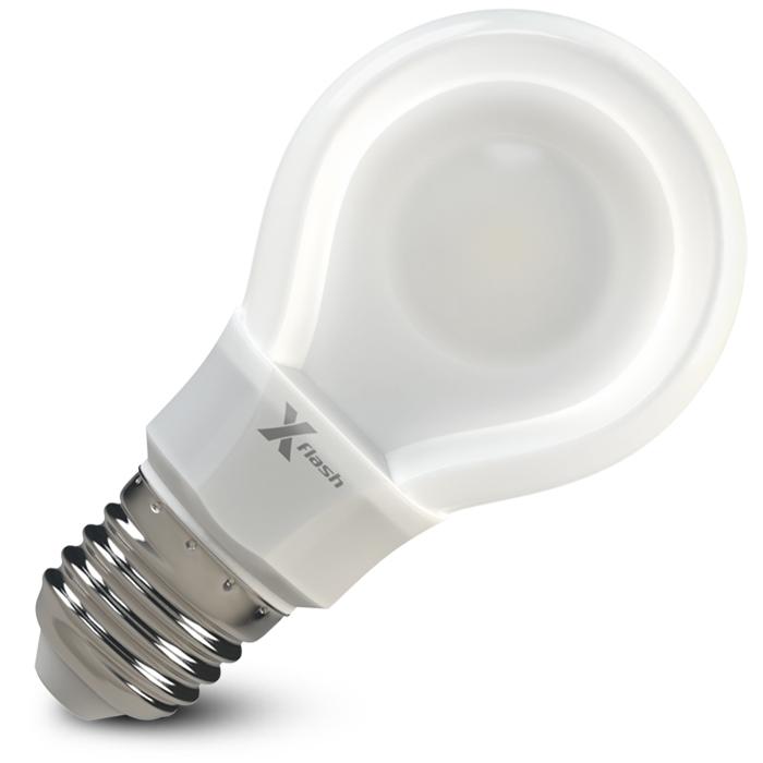 Светодиодная LED лампа X-flash Bulb A60 E27 8W 220V желтый свет, плоская колба