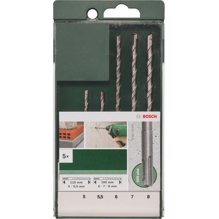 Набор буров Bosch SDS-Plus 5шт 2609255542
