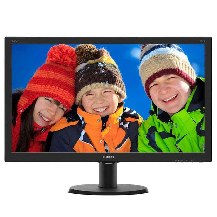 Монитор ЖК Philips 240V5QDSB 23.8″ IPS black VGA HDMI DVI