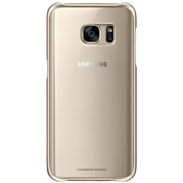 Чехол Samsung Clear Cover для Samsung G930F Galaxy S7, золотистый