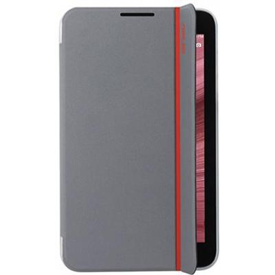 Чехол Asus Magsmart для Fonepad 7Memo Pad 7 ME170CGME170C, эко кожа, красно-серебристый