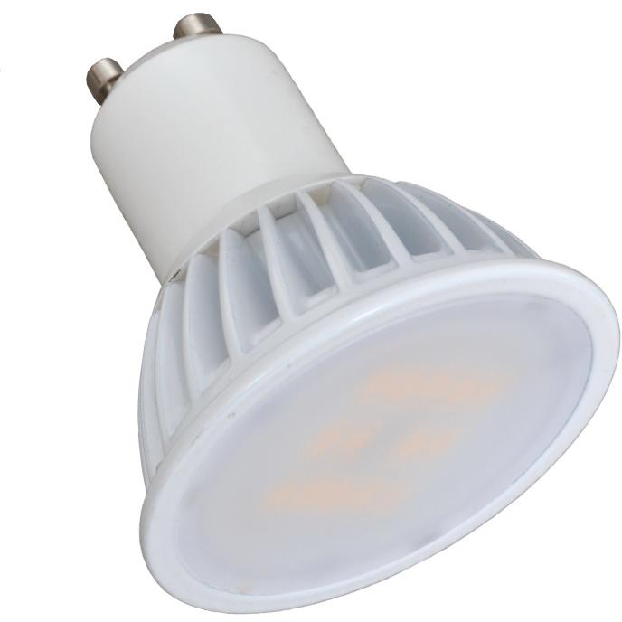 Светодиодная LED лампа X-flash MR16 GU10 5W 220V 43064 желтый свет, матовая