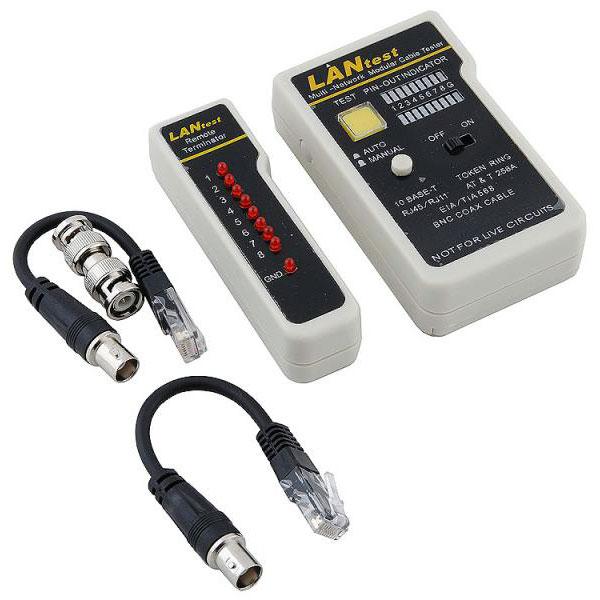 Тестер для UTP/STP RJ45, BNC, RJ11/12 5bites LY-CT007