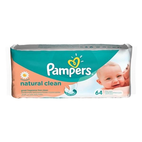 Салфетки Pampers 64 шт Naturals с экстрактами трав