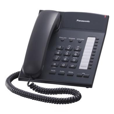 Телефон PANASONIC KX-TS2382RUB, черный
