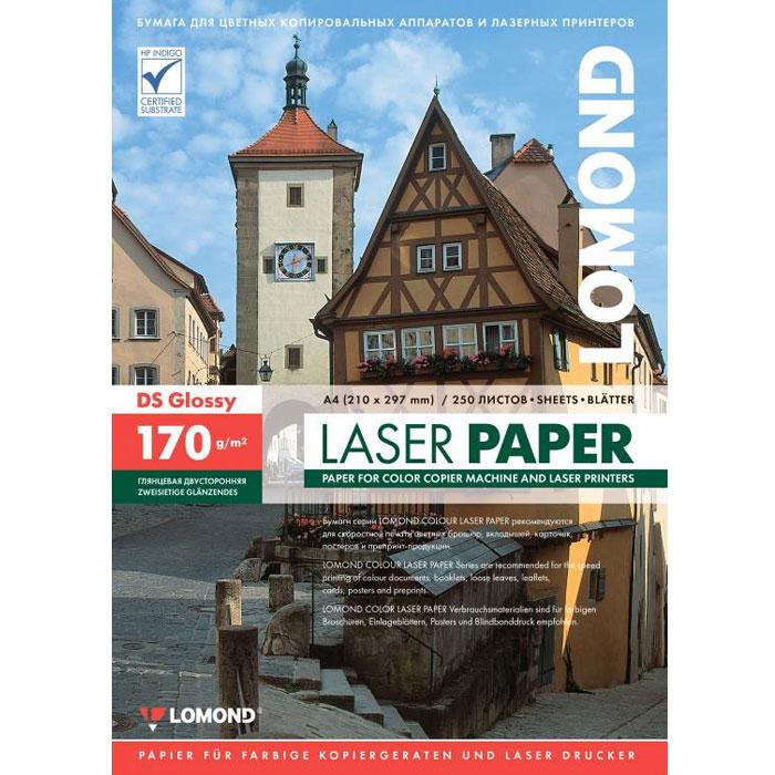 Фотобумага A4 Lomond 170гр, 250л Глянцевая/Глянцевая для лазерной печати ( 0310241 )