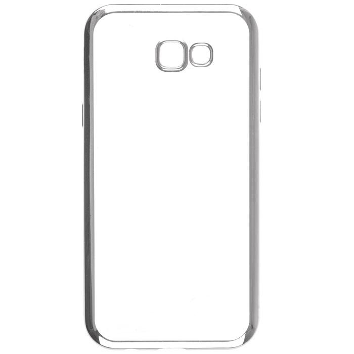 Чехол skinBOX silicone chrome border case для Samsung Galaxy A7 (2017) SM-A720F, серебристый