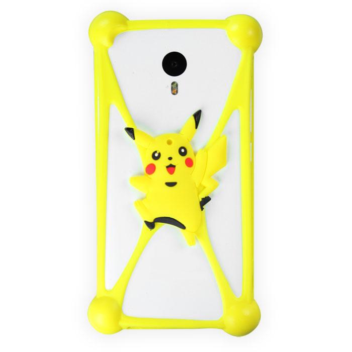Чехол универсальный для сотовых телефонов 3.5-5.5″ Partner бампер, покемон, желтый