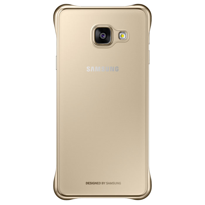 Чехол Samsung Clear Cover для Galaxy A3 (2016) SM-A310F, золотистый