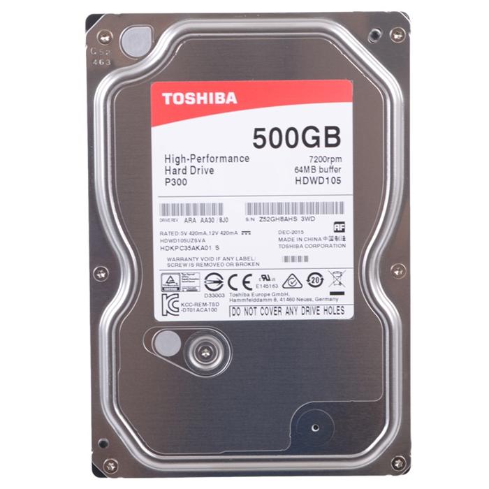 Жесткий диск 3.5″ SATA3 500Гб Toshiba , 7200rpm 64mb ( HDWD105UZSVA ) OEM