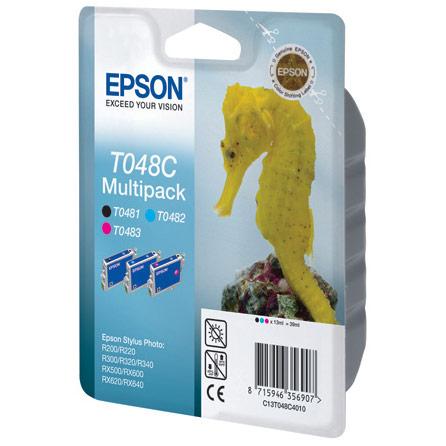 Набор картриджей EPSON C13T048C40 Black/Cyan/Magenta для R200/R220/R300/R320/R340/RX500/RX600/RX620
