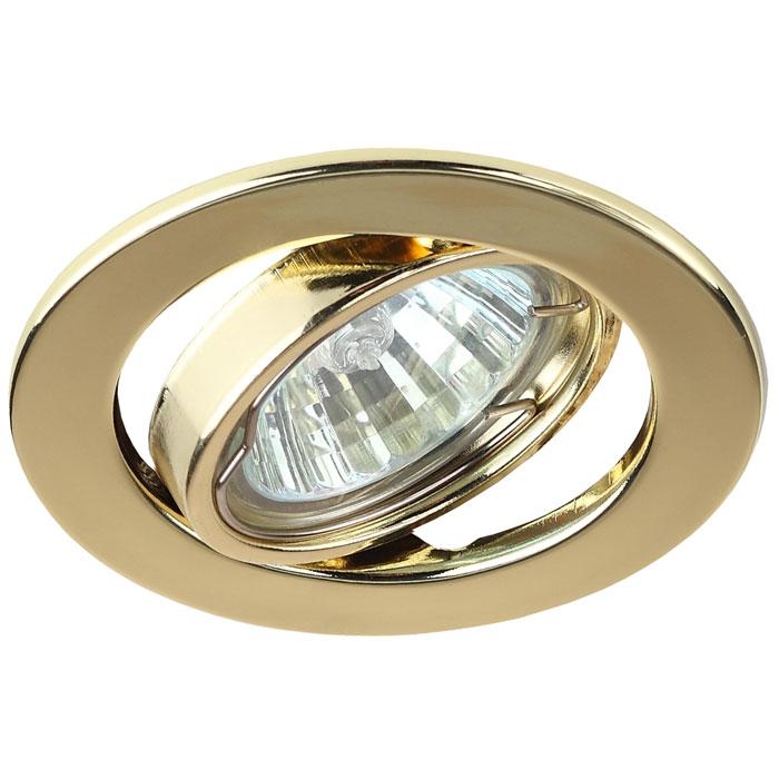 Светильник ЭРА C0043806 ST2A GD MR16 12V/220V 50W золото, поворотный