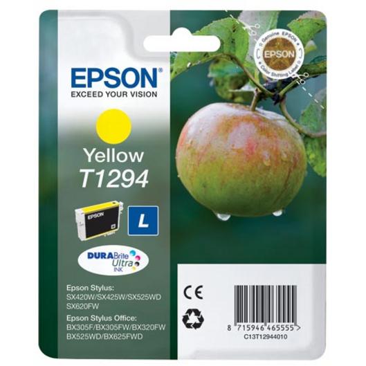 Картридж EPSON C13T12944021 Yellow для SX425W/SX525WD/BX305F/BX320FW/BX525WD/BX625FWD