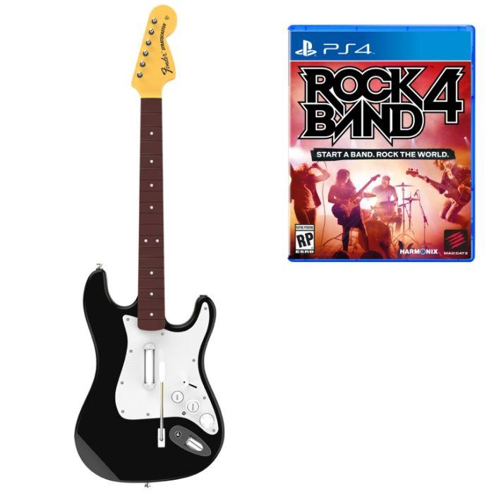 Комплект для Rock Band 4 (игра + гитара) Wireless Fender Stratocaster (PS4 )