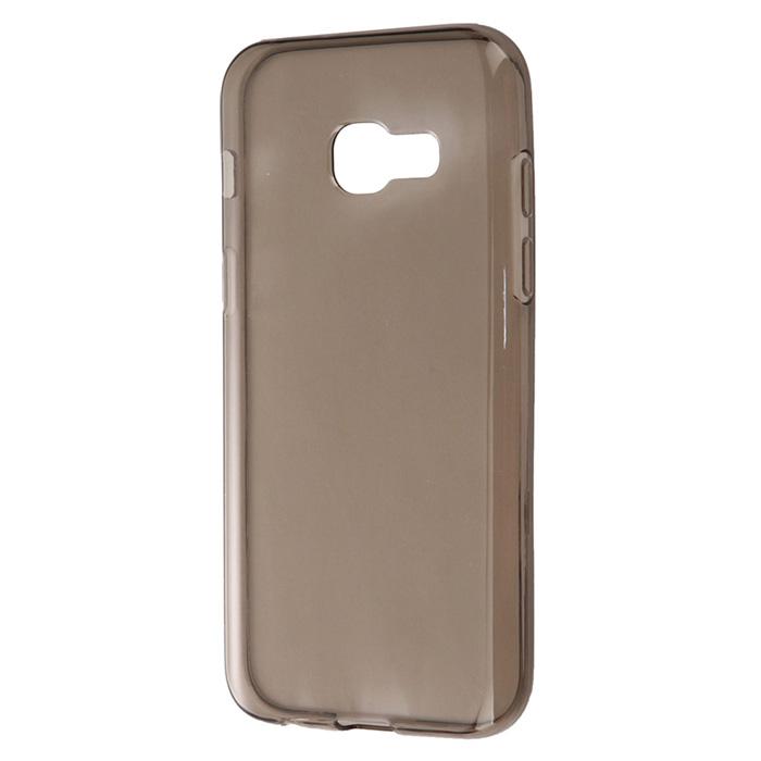 Чехол Gecko Силиконовая накладка для Samsung Galaxy A3 (2017) SM-A320F, прозрачно-глянцевая, серая