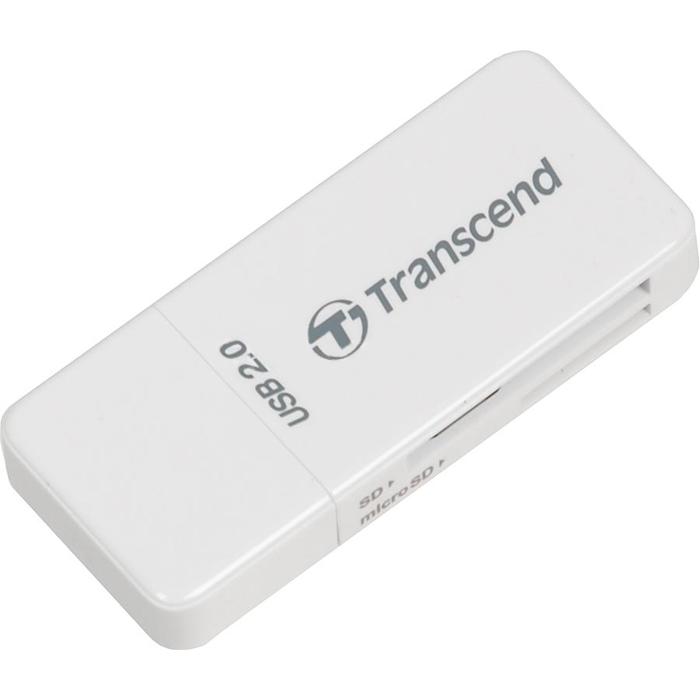 Ридер карт памяти внешний TRANSCEND TS-RDP5W, Белый