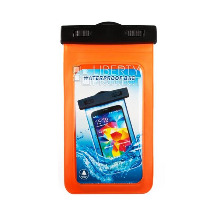 Водонепроницаемый чехол для смартфона до 5″, Liberty (оранжевый)