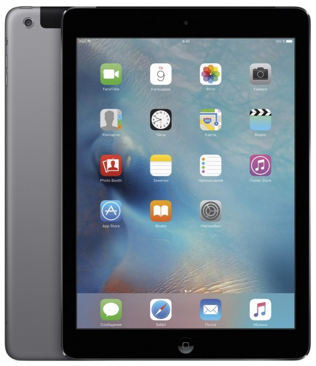 "Планшетный компьютер 9.7"" Apple iPad Air 2, 32Гб Flash, Cellular, Space Gray (MNVP2RU/A)"