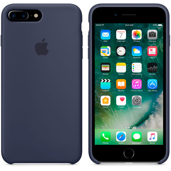 Чехол для Apple iPhone 7 Plus Silicone Case Midnight Blue MMQU2ZM/A