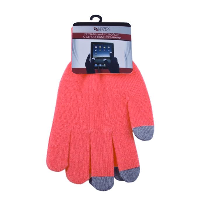 Перчатки для мобильных устройств Liberty цвет розовый, размер S