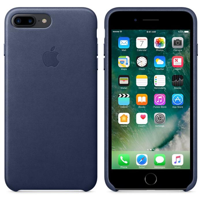 Чехол для Apple iPhone 7 Plus Leather Case Midnight Blue MMYG2ZM/A