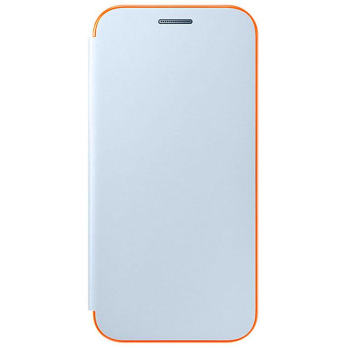 Чехол Samsung Neon Flip Cover для Galaxy A3 (2017) SM-A320F, синий