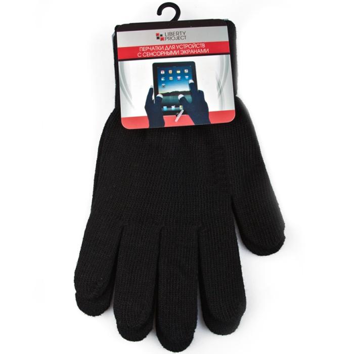 Перчатки для мобильных устройств Liberty цвет черный, размер M