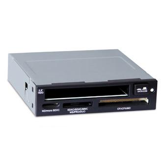 Ридер карт памяти внутренний GiNZZU GR-130HB/LE 3.5″ Card Reader + 2,5′ Черный