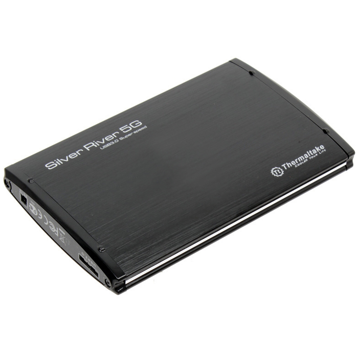 Корпус для HDD 2.5″ SATA-USB3.0 Thermaltake ST0024Z Silver River 5G, Black