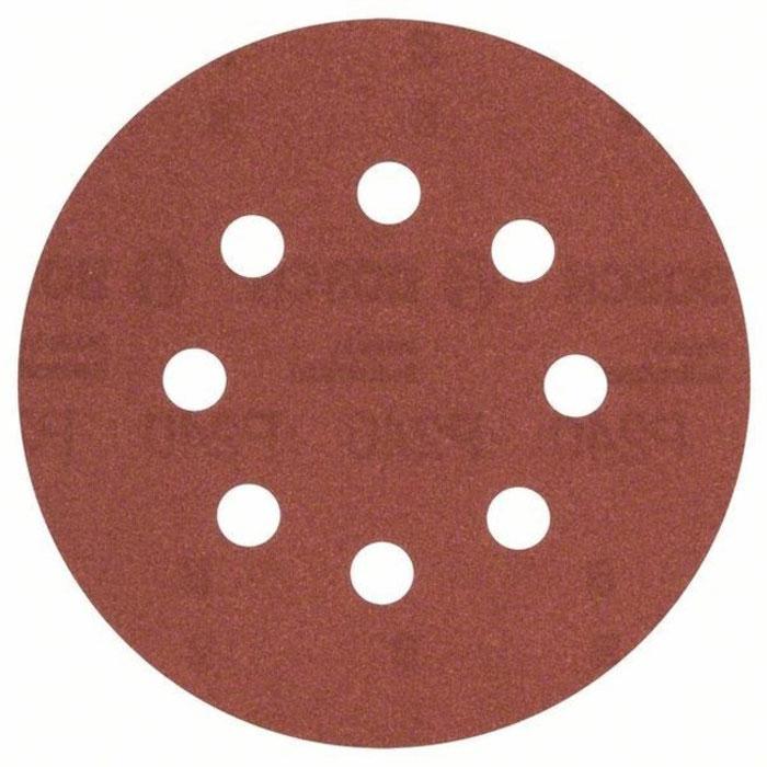 Набор шлифлистов по дереву/краске Bosch 125мм 240 зерно 5шт 2609256A27