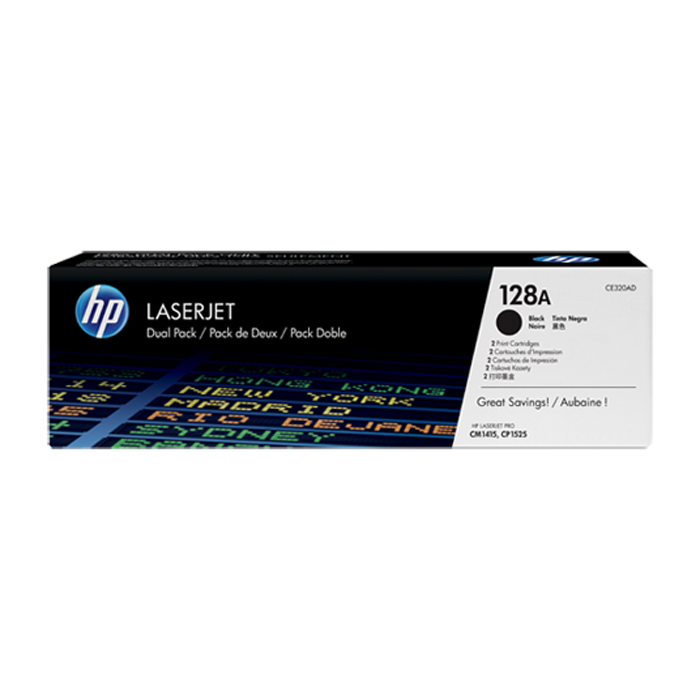 Картридж HP CE320AD Black двойная упаковка