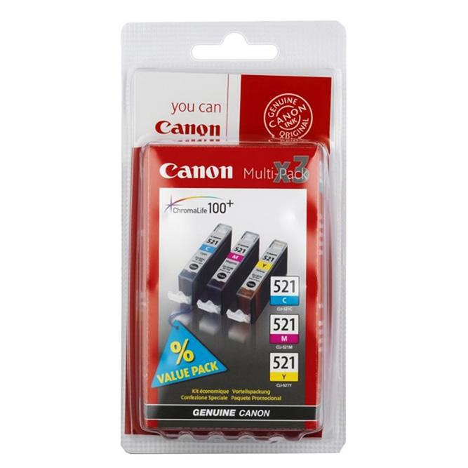 Набор картриджей Canon CLI-521CMY