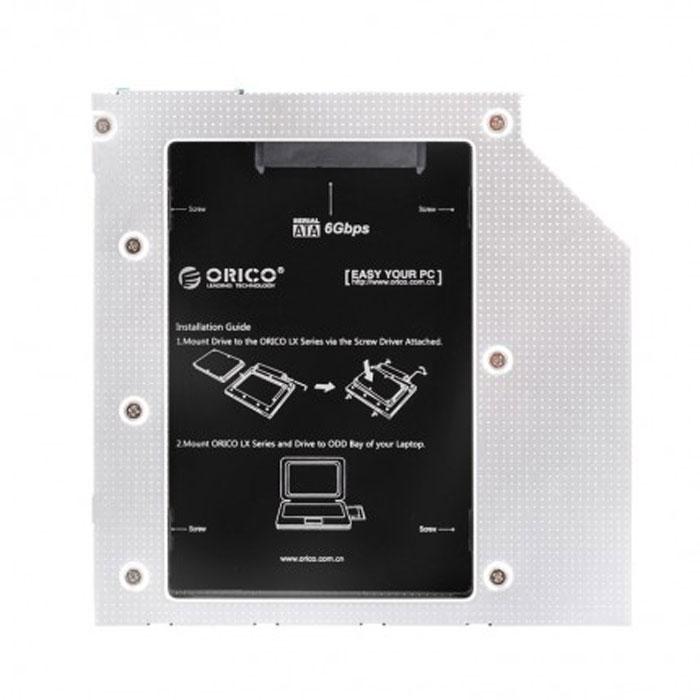 Салазки Orico для замены привода в ноутбуке 9.5мм на 2.5″ HDD/SSD SATA3 ( L95SS )