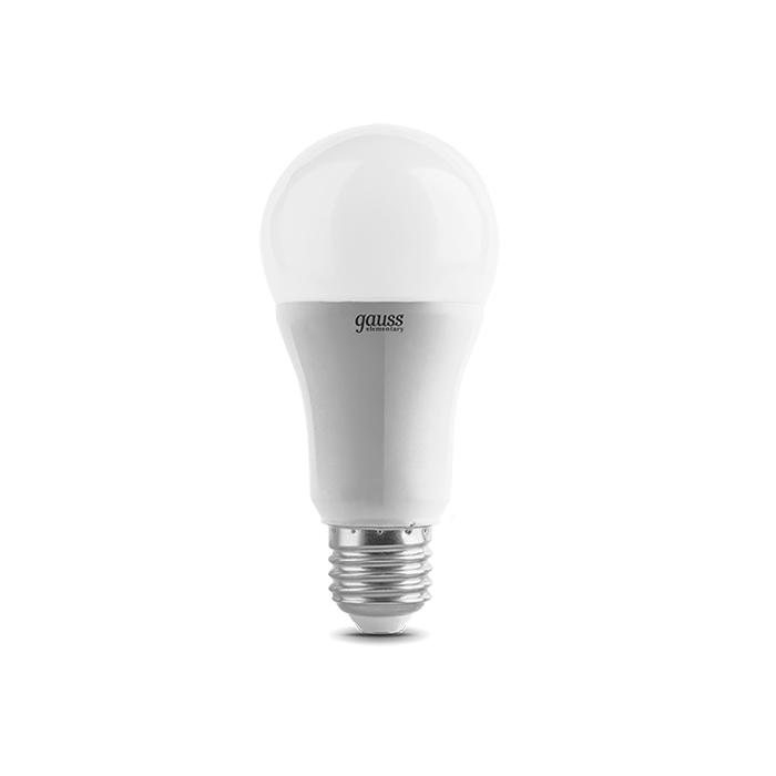 Светодиодная лампа Gauss Elementary A60 E27 12W 220V белый свет