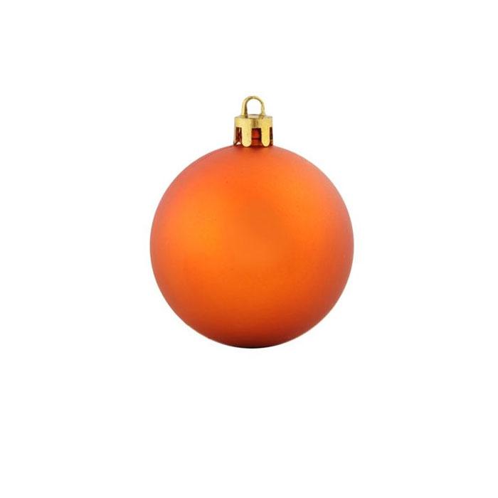 Нов игрушка шар пластик мат.d=8см  6шт в пакете оранжевый
